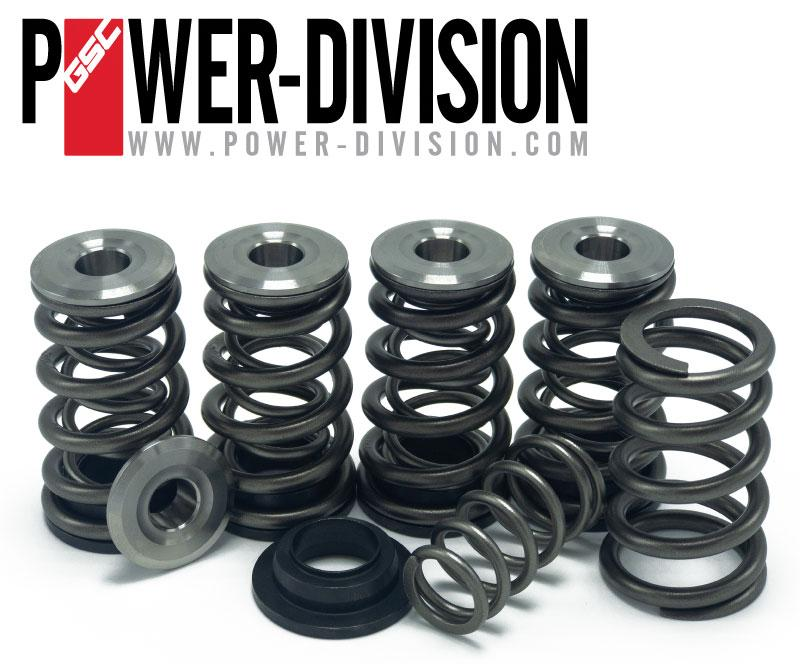 GSC Power-Division Dual Conical Valve Spring set with Titanium Retainer & Chromoly Seats for the Subaru EJ