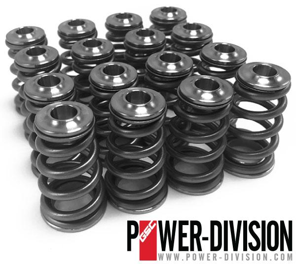 GSC Power-Division high pressure CONICAL Spring set with Titanium Retainer for the Subaru EJ Engines