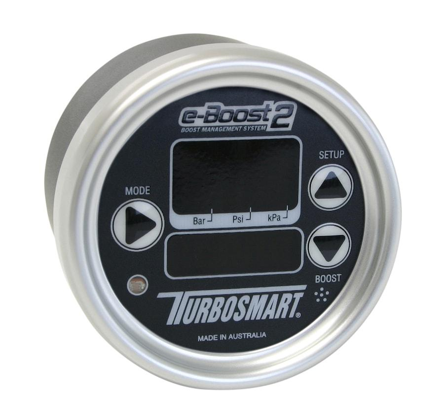 Turbosmart 60mm e-Boost2 Electronic Boost Controller Black Face Silver Bezel