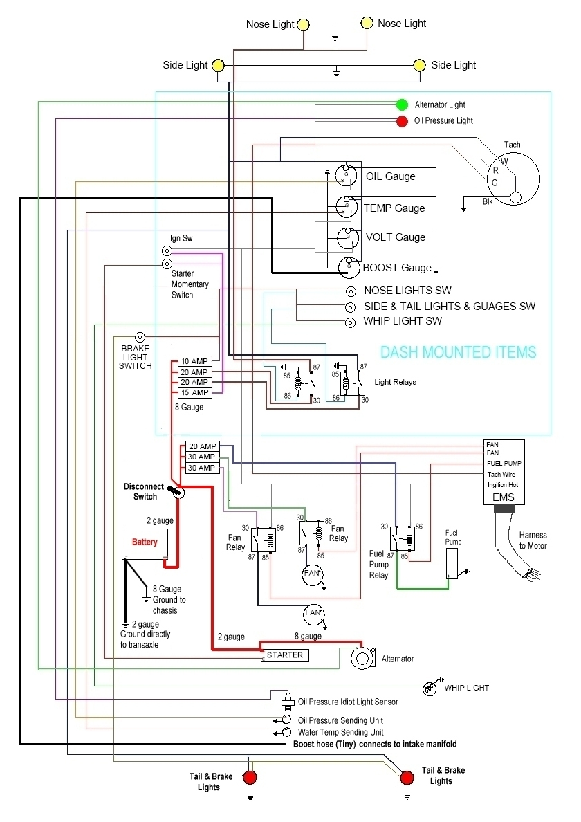 Sand Rail Wiring Diagram Worksheet And Vw Dune Buggy 101 Rh Outfrontmotorsports Com Instructions Schematic